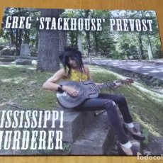Discos de vinilo: GREG STACKHOUSE PREVOST - MISSISSIPPI MURDERER (LP 2012, MDLP001) NUEVO Y PRECINTADO. Lote 237380410
