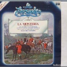 Discos de vinilo: LP. LA MONTERIA. LA ZARZUELA. Lote 237385645