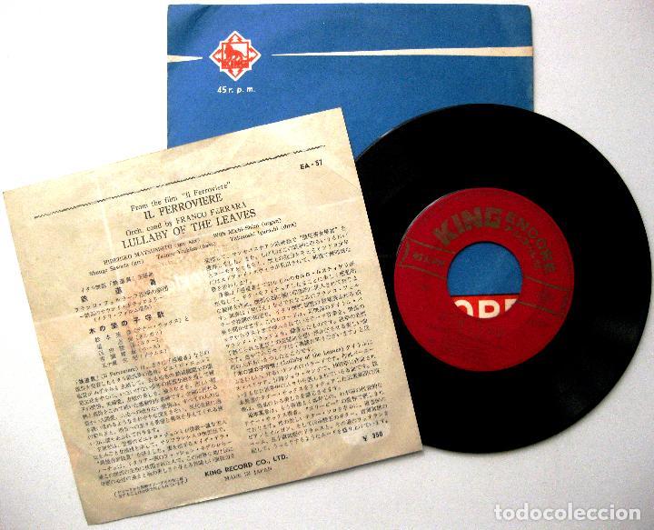 Discos de vinilo: Franco Ferrara , Carlo Rusticelli - Il Ferroviere - Single King Records 1959 Japan BPY - Foto 2 - 237386700