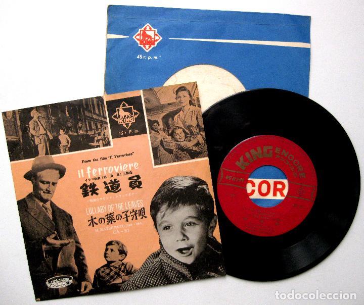 FRANCO FERRARA , CARLO RUSTICELLI - IL FERROVIERE - SINGLE KING RECORDS 1959 JAPAN BPY (Música - Discos - Singles Vinilo - Bandas Sonoras y Actores)