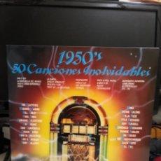 Discos de vinilo: DISCO VINILO 1950'S 50 CANCIONES INOLVIDABLES. 3 LPS. Lote 237406080