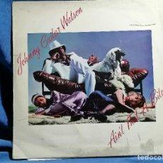 Discos de vinilo: JOHNNY GUITAR WATSON 'AIN'T THAT A BITCH ' EDICION ESPAÑA 1976 LA PORTADA ESTA UN PELIN GASTADA. Lote 237407310