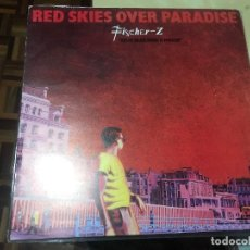 Discos de vinilo: FISCHER Z - RED SKIES OVER PARADISE LP TEST PRESSING WHITE LABEL. Lote 237410930