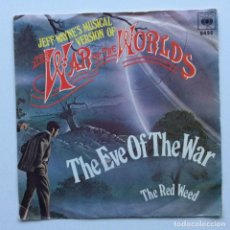 Discos de vinilo: JEFF WAYNE – THE EVE OF THE WAR / THE RED WEED HOLANDA,1978. Lote 237412250