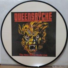 Discos de vinilo: QUEENSRYCHE - THE NEW METAL GODS LIVE ED UK / PICTURE DISC. Lote 237415585