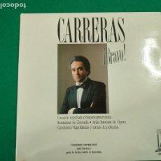 Discos de vinilo: JOSE CARRERAS. BRAVO. CANCION ESPAÑOLA E HISPANOAMERICANA.ROMANZAS DE ZARZUELA, ARIAS..... 2 LP. Lote 237443385