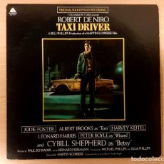 Discos de vinilo: TAXI DRIVER BERNARD HERRMANN RE-EDICIÓN ORIGINAL USA 1977 ARISTA RECORDS COMO NUEVO!!!. Lote 237447960