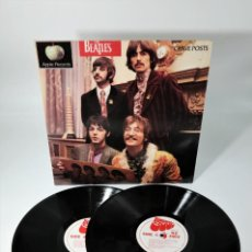 Discos de vinilo: THE BEATLES 2-LP SET GRAVE POSTS SAPCOR NZ 1964 RARE. Lote 237475140