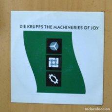 Disques de vinyle: DIE KRUPPS - THE MACHINERIES OF JOY - PROMO - SINGLE. Lote 237475170