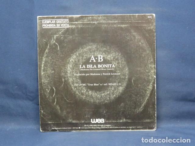 Discos de vinilo: MADONNA - LA ISLA BONITA - SINGLE PROMOCIONAL - Foto 2 - 237482480