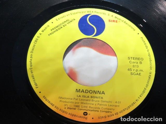 Discos de vinilo: MADONNA - LA ISLA BONITA - SINGLE PROMOCIONAL - Foto 3 - 237482480