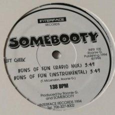 Discos de vinilo: SOMEBOOTY - BUNS OF FUN - 1994. Lote 237499655