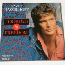 Discos de vinilo: DAVID HASSELHOFF - LOOKING FOR FREEDOM - 1988. Lote 237499815