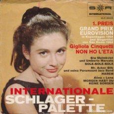 Discos de vinilo: 45 GIRI INERNATIONALE SCHLAGER PALETTE GIGLIOLA CINQUETTI EP 1 PREIS GRAND PRIX EUROVISION IN KOPENA. Lote 237541405