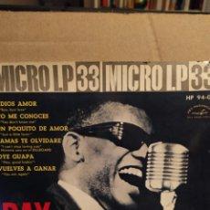 Discos de vinil: RAY CHARLES: CANCIONES AMERICANAS MICRO LP ADIÓS AMOR; NO ME CONOCES`+ 4; 1962. HISPAVOX. Lote 237542855