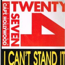 Discos de vinilo: TWENTY 4 SEVEN - I CAN´T STAND IT - DOBLE MAXI SINGLE 1990. Lote 288517433