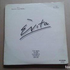 Discos de vinilo: BANDA SONORA - EVITA DOBLE LP 1976 EDICION ESPAÑOLA. Lote 237554750
