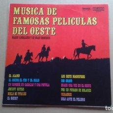Discos de vinilo: MARIO CAVALLERO Y SU GRAN ORQUESTA - MUSICA DE FAMOSAS PELICULAS DEL OESTE LP 1973 EDICION ESPAÑOLA. Lote 237556200