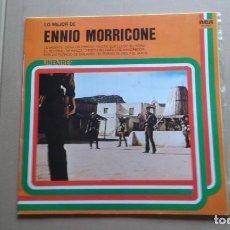Discos de vinilo: LO MEJOR DE ENNIO MORRICONE LP 1977 EDICION ESPAÑOLA. Lote 237557290