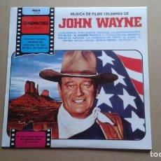 Discos de vinilo: BANDA SONORA - MUSICA DE FILMS CELEBRES DE JOHN WAYNE LP 1981 EDICION ESPAÑOLA. Lote 237559125