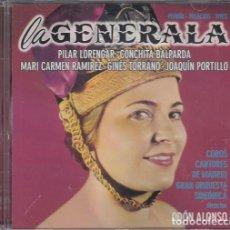 Discos de vinilo: LA GENERALA - PILAR LORENGAR JOAQUIN PORTILLO CONCHITA BALPARDA - ODON ALONSO - CD ZARZUELA #. Lote 237559400