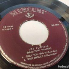 Discos de vinilo: EP LOS PLATTERS - ONLY YOU - DISCO INSERVIBLE. Lote 237559925