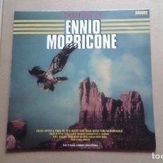 Discos de vinilo: THE MUSIC OF ENNIO MORRICONE - THE STUDIO LONDON ORCHESTRA LP 1985 EDICION SUIZA. Lote 237560135