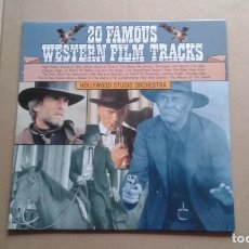 Discos de vinilo: HOLLYWOOD STUDIO ORCHESTRA - 20 FAMOUS WESTERN FILM TRACKS LP EDICION ALEMANA. Lote 237560990