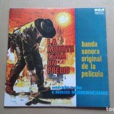 Discos de vinilo: BANDA SONORA - LA MUERTE TENIA UN PRECIO LP 1966 EDICION ESPAÑOLA. Lote 237563170
