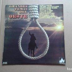Discos de vinilo: BANDA SONORA - GRANDES TEMAS DEL OESTE LP 1976 EDICION ESPAÑOLA. Lote 237563585