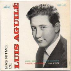 Discos de vinilo: LUIS AGUILE - VERDE,VERDE / ES UN SECRETO / NO LO OLVIDES / TE QUIERO // EP ODEON 1964 RF-4774. Lote 237566030