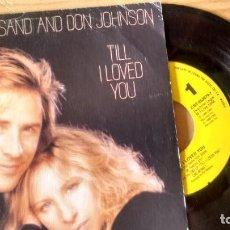 Discos de vinilo: SINGLE (VINIULO)-PROMOCION- DE BARBRA STREISAND AND DON JOHNSON AÑOS 80. Lote 237572580