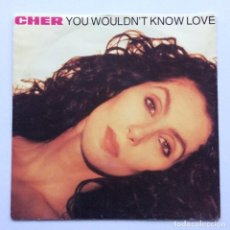 Discos de vinilo: CHER – YOU WOULDN'T KNOW LOVE / KISS TO KISS GERMANY,1990. Lote 237583535