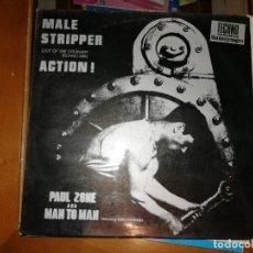 Discos de vinilo: LOTE 2 DISCOS TECHNO. M.A.S.I.-APACHE/KILLER,1991 Y PAUL ZONE & MAN 2 MAN-MALE STRIPPER/ACTION,1992. Lote 237586000