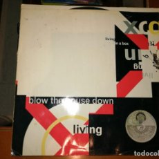 Discos de vinilo: LOTE 2 DISCOS HOUSE. LIVING IN A BOX-BLOW THE HOUSE DOWN,1989 Y THE BIGHOUSE-GET OFF THAT WALL,1988. Lote 237590125