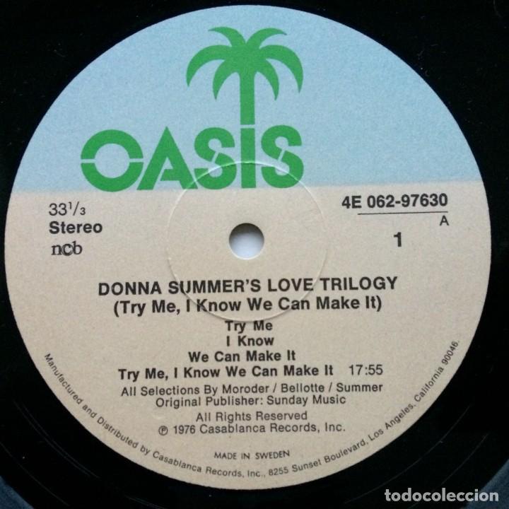 Discos de vinilo: Donna Summer – A Love Trilogy Scandinavia,1976 Oasis - Foto 3 - 237592730