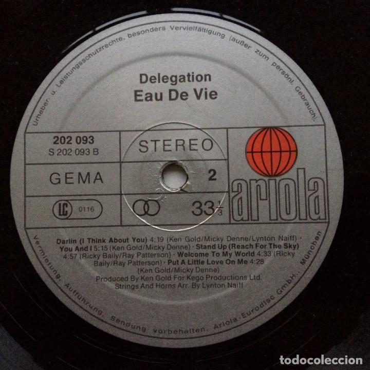 Discos de vinilo: Delegation – Eau De Vie Germany,1980 Ariola - Foto 4 - 237596240
