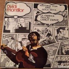 Disques de vinyle: OVIDI MONTLLOR - HISTÒRIA D'UN AMIC + 3 ****** RARO EP PORTADA EQUIPO CRÓNICA 1969. Lote 237627490