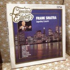 Discos de vinilo: FRANK SINATRA-LEGENDARY CONCERTS , BOX 3 LP EDICIÓN LIMITADA ALEMANIA. Lote 237662790