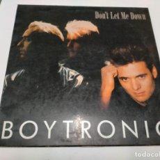 Discos de vinilo: BOYTRONIC - DON´T LET ME DOWN - MAXI .SPITFIRE MUSIC 1988. Lote 237672560