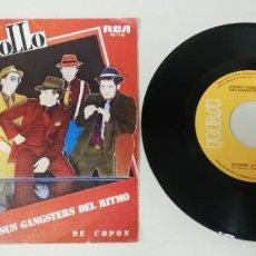 """Disques de vinyle: 0121- JOHNNY COMOMOLLO Y SUS GANSTERS DEL RITMO - VIN 7"""" POR VG+ DIS NM. Lote 237691345"""