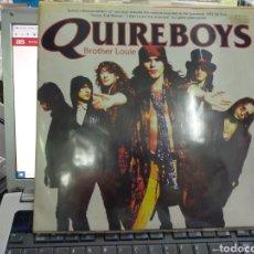 Discos de vinilo: QUIREBOYS MAXI + PÓSTER BROTHER LOUIE VINILO ROJO 1993. Lote 237709350