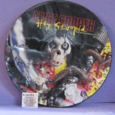 Discos de vinilo: ALICE COOPER - HEY STOOPID - MAXI SINGLE 12' PICTURE DISC. Lote 237722730
