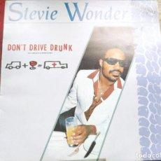 Discos de vinilo: STEVIE WONDER. DONT DRIVE DRUNK. SUPERSINGLE 33 R.P.M. MOTOW. 1985.. Lote 237743395