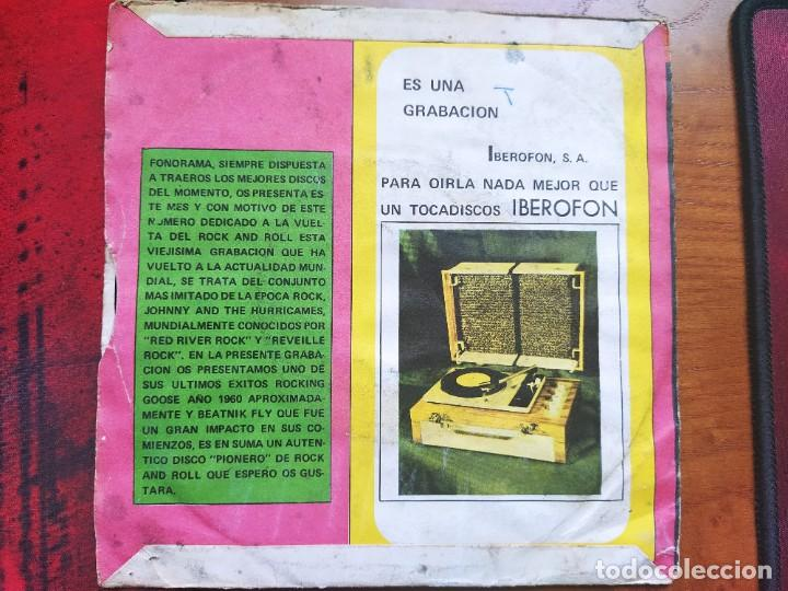 Discos de vinilo: FONORAMA 45 RPM. JOHNY AND THE HURRICANES, ROCKING GOOSE. - Foto 2 - 237745220
