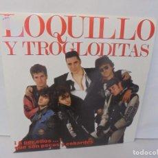 Discos de vinilo: LOQUILLO Y TROGLODITAS. ¡APOR ELLOS! QUE SON POCOS Y COBARDES. 2LP VINILO. 1989. Lote 237754325