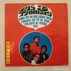 Discos de vinilo: ELS 3 TAMBORS - ROMANÇO DEL FILL DE VIUDA (TOMBSTONE BLUES - BOB DYLAN) +3 - EP BELTER DEL 1966 EX++. Lote 237778550