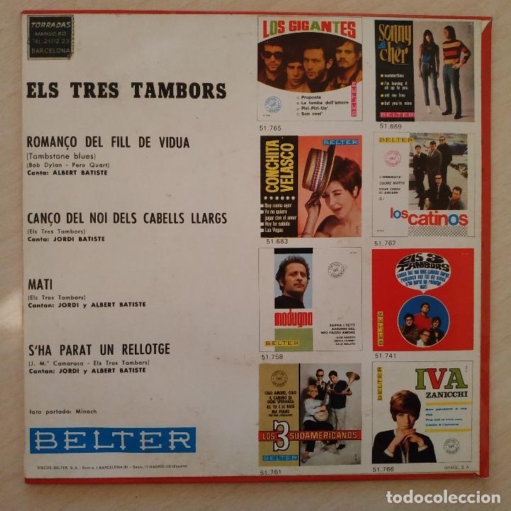 Discos de vinilo: Els 3 Tambors - Romanço Del Fill De Viuda (Tombstone Blues - Bob Dylan) +3 - EP Belter del 1966 EX++ - Foto 2 - 237778550