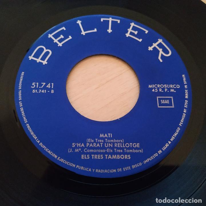 Discos de vinilo: Els 3 Tambors - Romanço Del Fill De Viuda (Tombstone Blues - Bob Dylan) +3 - EP Belter del 1966 EX++ - Foto 7 - 237778550