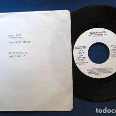 Discos de vinilo: CAMILO SESTO SINGLE PROMOCIONAL LABEL BALNCO ARIOLA ESPAÑA 1981 RARO EXCELENTE ESTADO CONSERVACION. Lote 237821595